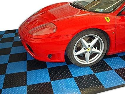 Pavimento piastrella nera in pp officina auto moto pavimentazione
