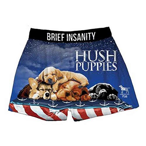 00155b393527 BRIEF INSANITY Men's Hush Puppies Sleeping Dog Boxer Shorts Underwear 7049  at Amazon Men's Clothing store: