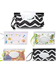 4Packs Portable Wet Wipe Pouch Dispenser, Wet Wipe Bags Handy Wet Wipe Pouch Reusable Refillable, Wipes Carrying Case for Travel-Pouch Outside Carries, Eco Friendly Wipes Dispenser Container for Travel, Strollers, Backpacks