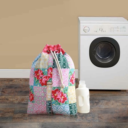 The Pioneer Woman Laundry Bag Tote Large Drawstring with Strap