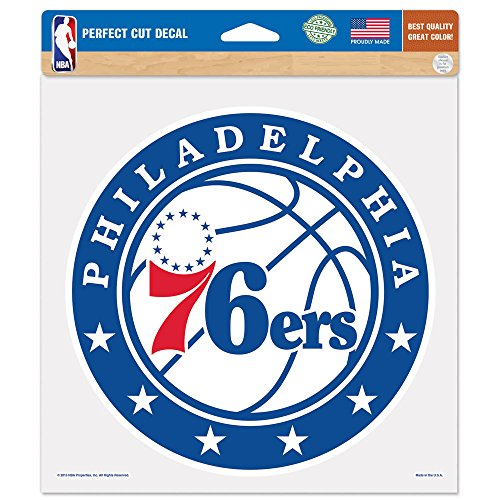 NBA Philadephia 76ers Perfect Cut Color Decal, 8 x 8-Inch