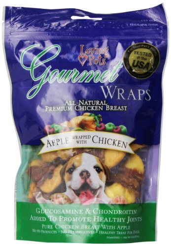 Loving Pets All Natural Premium Apple and Chicken Wraps with (Loving Pets Apple)