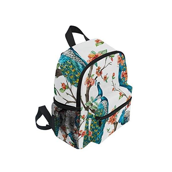 Peacock Animal Zaino Scuola Multi Carino Bookbags per la Scuola Ragazzi e Ragazze Ragazze Ragazzi Borse Bambini Viaggio… 2 spesavip