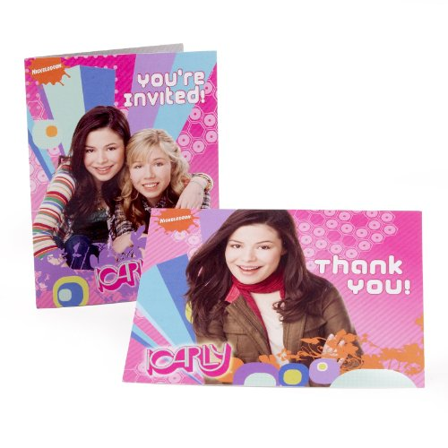 American Greetings - iCarly 8 Invitations and 8