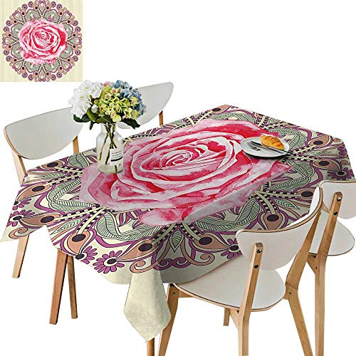 UHOO2018 Square/Rectangle Polyester Table Cloth FloralwithRose for sale  Delivered anywhere in Canada