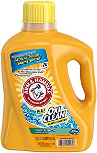 Arm & Hammer Laundry Detergent Plus OxiClean, Clean Meadow, 122.5 Oz