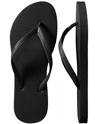 Black Rubber Thong - SLR Brands Men's Flip Flops Rubber Thong Flip Flop Sandal for Men (X-Large (US 11)