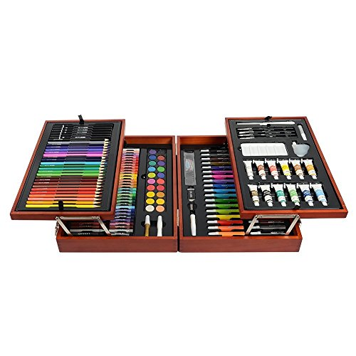 kiddycolor-197-piece-deluxe-wood-mixed-media-art-set-for-kids-in-wooden-case-2