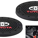 AOOOOP Car Interior Accessories for Toyota Cup Holder Insert Coaster - Silicone Anti Slip Cup Mat For Toyota 86 Camry Yaris Corolla 4Runner RAV4 Highlander Land Cruiser Prius(Set of 2, 2.75' Diameter)