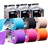 6-pack ARES Kinesiology Tape Color Pack (Purple, Pink, Orange, Blue, Black and Beige)