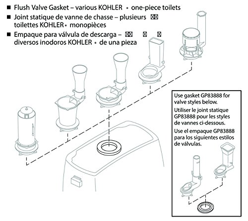 Buy kohler toilet tank gasket