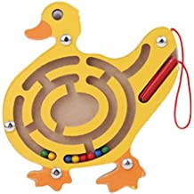 HS Anmial Shaped Wooden Maze Toy Kids Children Education Learning Labyrinth Balance Toys (Duck)