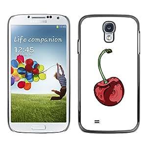 Paccase / SLIM PC / Aliminium Casa Carcasa Funda Case Cover para - Red Minimalist White Fruit - Samsung Galaxy S4 I9500