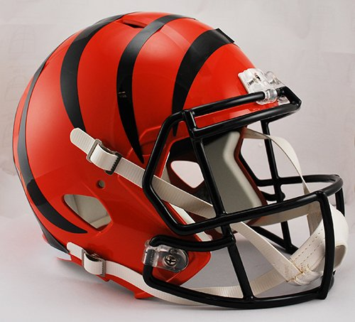 Riddell NFL Cincinnati Bengals Full Size Replica Speed Helmet, Medium, Orange -