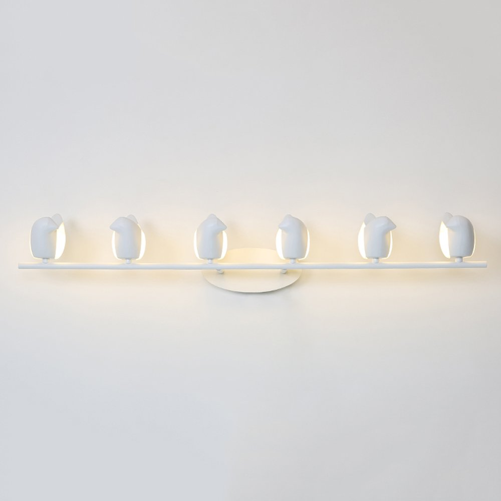 Acrylic Bird Wall Lamp Nordic LED Modern Style Aluminum Lighting Fixture Corridor Children's Room Aisle Iron Wall Lamp (with G4 Lamp Beads) ( Color : White , Size : D )