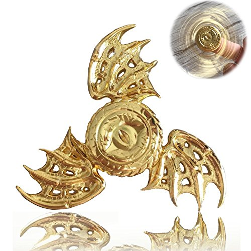 Xstars Batman Snitch Fidget Spinner Hand Spinner Toy Focus Copper Snitch Toy Stainless Steel Metal Fidget Toys Fingertip Gyro Stress Relief Cube Fun Toy Gifts,Great for EDC,ADD,ADHD(Golden)