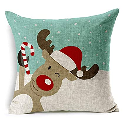 Amazon.com: Wall of Dragon Merry Christmas Decorative Throw ...