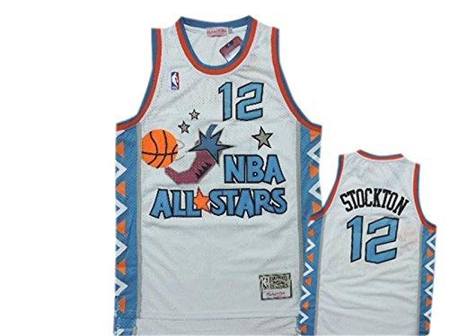 lowest price 5b8b0 d0b9e 1996 All Star 12 John Stockton White Hardwood Classics ...