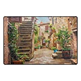 Cheap WOZO Alley In Old Town Pitigliano Tuscany Italy Cityscape Area Rug Rugs Non-Slip Floor Mat Doormats for Living Room Bedroom 31 x 20 inches