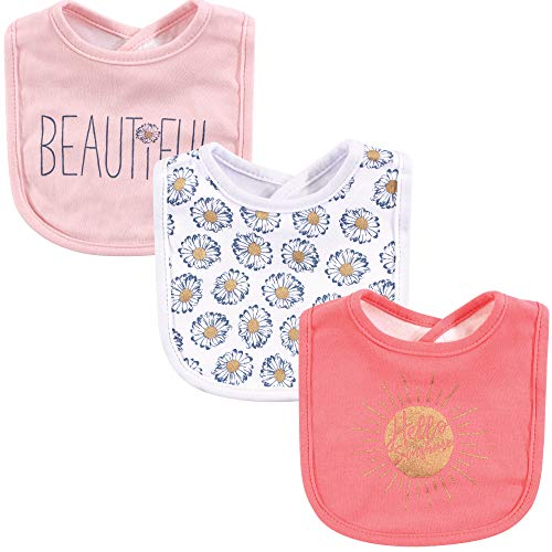 Yoga Sprout Baby Cotton Drooler Bib, Hello Sunshine, One Size