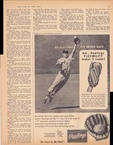 Rawlings Baseball Glove Ken Boyer 1963 Vintage Antique Advertisement