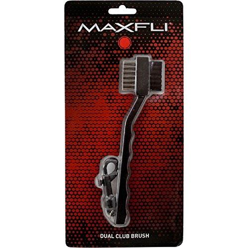 Brush Dual Golf - Maxfli Dual Wire Golf Club Brush w/Bag Clip Attachment