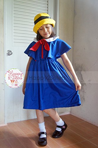 Madeline costume Madeline dress Madeline cape Girls halloween costume