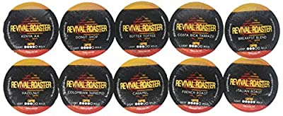 96-count Variety Pack Revival Roaster (10 amazing blends) Gourmet Roasted Coffee for Keurig K cups with 10 Bonus Cups (Compatible with Keurig 2.0) by Revival Roaster