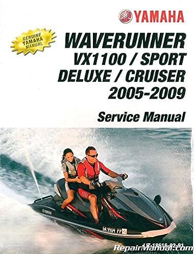 amazon com yamaha factory service manual 2005 2009 vx1100d rh amazon com yamaha vx 110 service manual yamaha vx110 free service manual