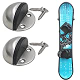 snowboard storage - YYST Snowboard Rack Wall Mount Storage Rack - Stainless Steel- No Board