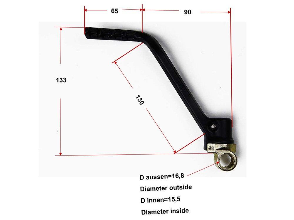 Kickstarter kompatibel mit//Ersatzteil f/ür KTM SX XC XC-W EXC 125 150 200 Kick Starter schwarz