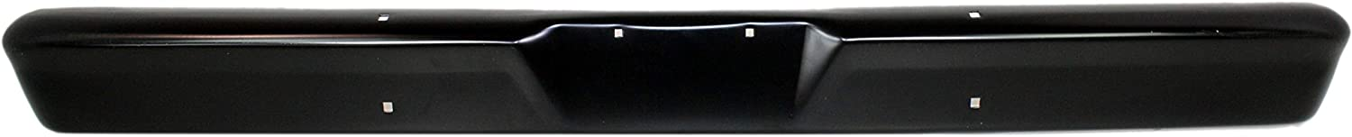 Front Bumper Compatible with 1975-1977 Ford F-150 Face Bar Black