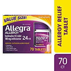 Allegra Adult 24 Hour Allergy Tablets, 7...