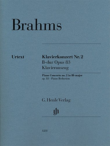 Piano Concerto no. 2 in Bb Major - Op 83 - piano reduction - urtext - ( HN 1231 ) (English, German and French Edition)