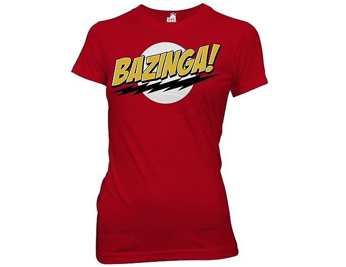 8f566673 Amazon.com: Ripple Junction Big Bang Theory Bazinga Junior T-Shirt ...