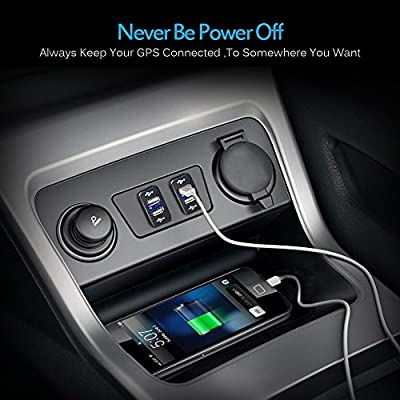 MICTUNING UC001 2.1A Dual USB Power Socket for Smart Phone PDA iPad iPhone Charger for Toyota