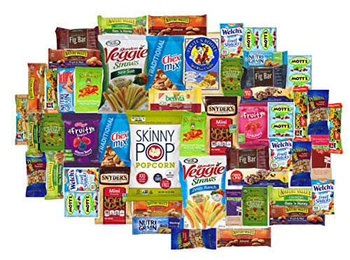 Healthy Choice Care Package (52 count) A Gift Snack Box with a Variety of Healthy Snack Choices  Great for Office, College Military, Work, Students etc.