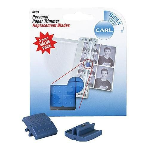 CARL BRANDS Carl Personal Paper Trimmer Replacement Blades 4//Pkg-Straight; For Rbt12 /& Rbt12n