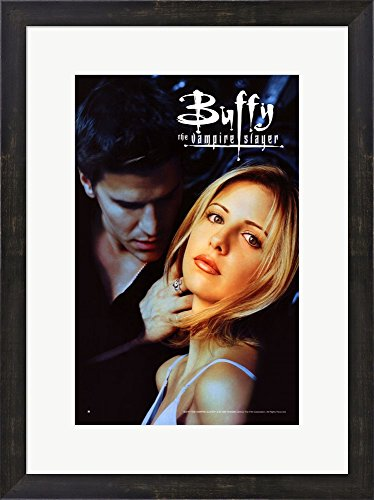 Buffy The Vampire Slayer (TV) Framed Art Print Wall Picture, Espresso Brown Frame with Hanging Cleat, 18 x 24 inches