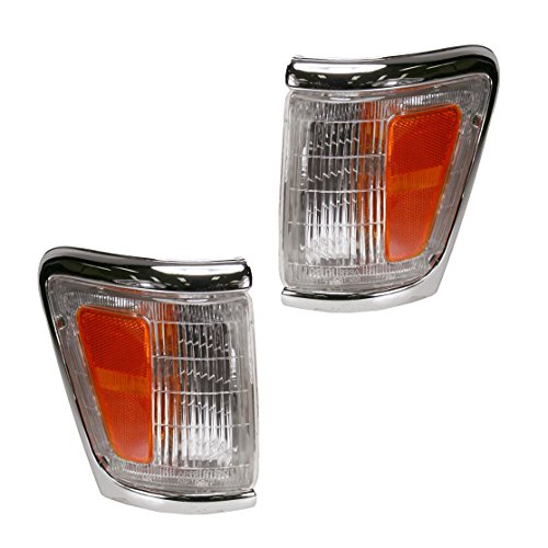 (Side Marker Parking Turn Signal Corner Lights Pair Set for Toyota Pickup 4WD 4x4)