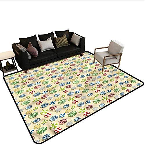 (Abstract,Thin Non-Slip Kitchen Bathroom Carpet 36