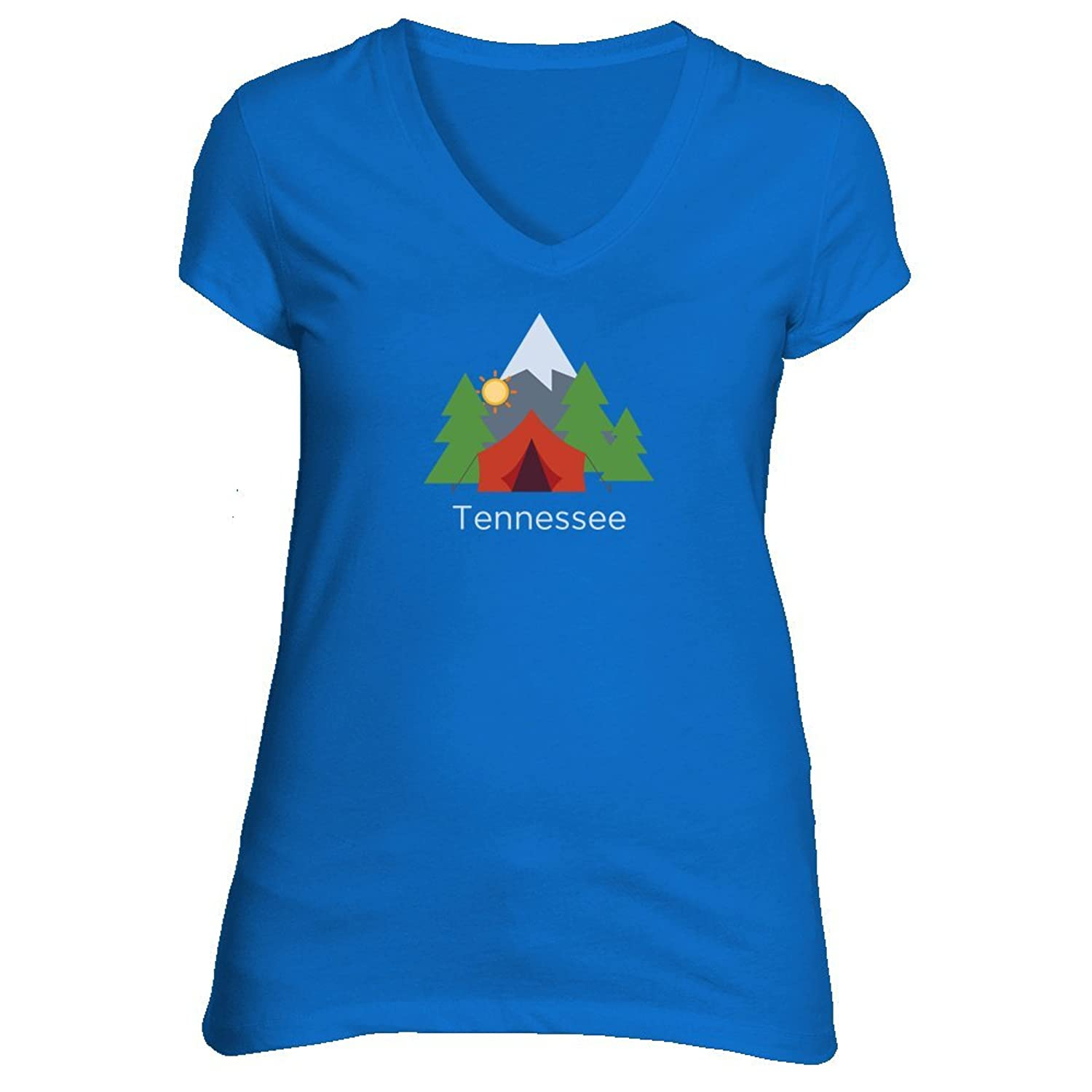 Tennessee Mountain Camping - Women's V-Neck T-Shirt