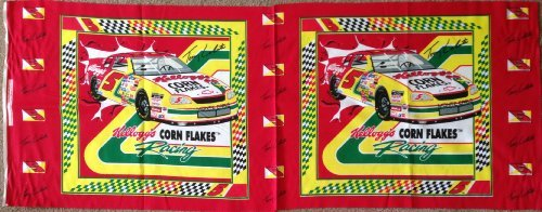 Kelloggs Terry - Terry Labonte #5 Kellogg's Corn Flakes NASCAR Fabric Pillow Panel (Great for Quilting, Sewing, Craft Projects, Pillow Case or Throw Pillows) 17