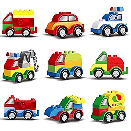Prextex 60 Pieces Build Your Own Toy Cars Set Building Blocks Building Bricks from Prextex