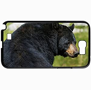 Personalized Protective Hardshell Back Hardcover For Samsung Note 2, Bear Nature Summer Design In Black Case Color