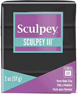 product image for Polyform Sculpey III Polymer Clay, 2-Ounce, Black