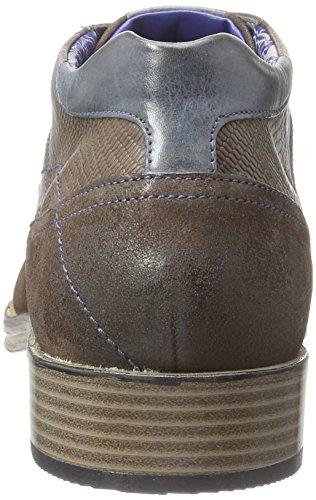 con braun Marrón cordones Zapatos D para 6061 hombre Bugatti Braun 14WSHqnff