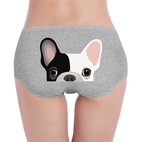 PRETY Cute French Bulldog Print Sexy Fashion Underwear Ash Small For Women And Girls