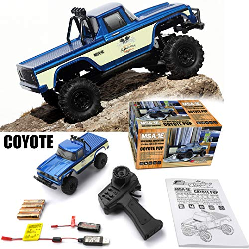 MSA-1E Coyote Pup 4×4 RTR w/ 2.4 GHz DK Propo Radio, LiPo Battery + Charger: 1/24 Scale Ready to Run 4WD Electric Scaler Rock Crawler Pickup Truck