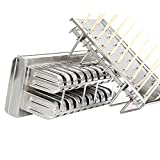 Binglinghua 20pcs Stainless Steel Molds Ice Lolly Popsicle Ice Cream Stick Holder Industrial